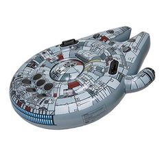 This Star Wars Millennium Falcon is actually a pool float! Must have.
