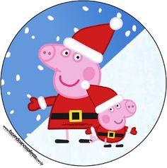 Peppa Pig en Navidad: Etiquetas para Candy Buffet para Imprimir Gratis. | Ideas y material gratis para fiestas y celebraciones Oh My Fiesta!