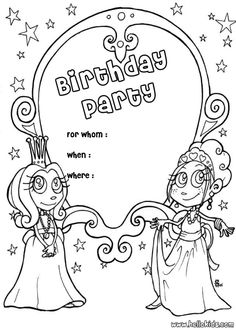 birthday girl coloring page Happy Birthsday coloring Pinterest