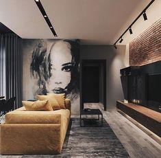 Modern Loft designed by Leonid Sizikov Loft Interior Design, Loft Design, Interior Architecture, Interior Decorating, House Design, Decorating Tips, Interior Design Yellow, Decorating Websites, Apartment Interior
