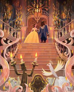 Joey Chou Disney Beauty & The Beast Disney Pixar, Walt Disney, Deco Disney, Disney Fan Art, Disney Animation, Disney And Dreamworks, Disney Love, Disney Magic, Disney Characters