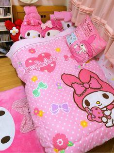 15 Ideas of Hello Kitty Bedroom Decoration Hello Kitty Bedroom, Cat Bedroom, Kawaii Bedroom, Dream Bedroom, Bedroom Decor, Pink Bedroom Design, Kawaii Cute, Kawaii Stuff, Sanrio Characters