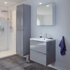 armoire murale blanc imandra l 60 x h 60 x p 15 cm. Black Bedroom Furniture Sets. Home Design Ideas