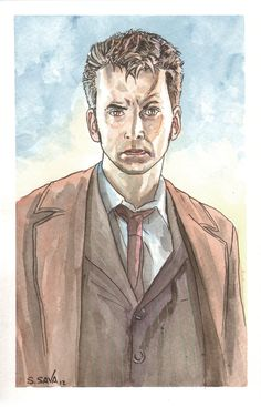 Did another David Tennant Watercolor portrait since the first one sold before I could place it on Etsy.  :)  Thank you for looking.  Original painting (and many others) for sale at my Etsy store…  http://www.etsy.com/shop/ScottChristianSava
