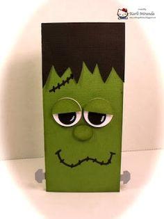 Crafting with Class: Frankie Candy Bar Card Halloween Class Treats, Halloween Candy Bar, Halloween Treat Boxes, Halloween Party Favors, Halloween Boo, Halloween Birthday, Diy Halloween Decorations, Halloween Cards, Halloween Ideas