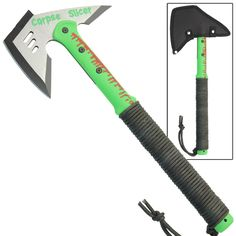 Zombie Corpse Slicer Combative Tactical Stainless Steel Throwing Battle Axe ** See this great product. (This is an affiliate link) Zombie Apocalypse Gear, Zombie Gear, Apocalypse Survival, Tactical Survival, Tactical Knives, Survival Gear, Cool Walking Canes, Nylons, Bug Out Gear