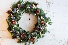 A festive DIY wreath by LaurenConrad.com