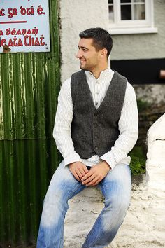 Irish Wool Tweed Vest, Tweed Jacket, Add warmth and handsome comfort to your ensemble with our men's vests and waist coats