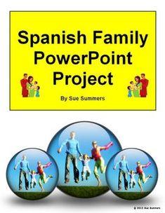 Spanish Family PowerPoint / Google Slides Project - Spanish Distance Learning Spanish Vocabulary, Teaching Spanish, Spanish Activities, Spanish Teacher, Spanish Lesson Plans, Spanish Lessons, Personality Descriptions, Spanish Classroom, Classroom Ideas