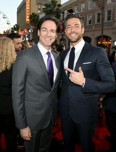 """Zachary Levi Photos - Peter Safran (L) and Zachary Levi arrive at the world premiere of Warner Bros. Pictures and New Line Cinema's """"SHAZAM"""" at TCL Chinese Theatre on March 2019 in Hollywood, California. - Zachary Levi Photos - 86 of 1749 Zachary Levi, Zachary Quinto, In Hollywood, Hollywood California, New Line Cinema, Yvonne Strahovski, Colton Haynes, Michael Fassbender, Photo L"""
