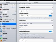 Bloquea la rotación de la pantalla en el iPad.