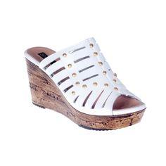 Sandalia cuña blanca - Cuñas - Zapatos - Tiendacuple.com