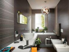 WALL Materia tortora Materia antracite Materia antracite mosaico Materia tweed grigio #fapceramiche #materia #ceramic #interior #madeinitaly