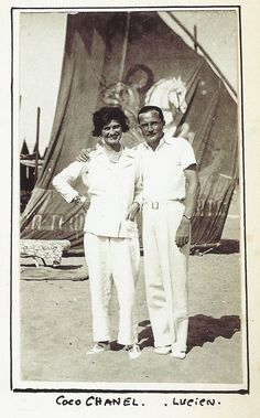 Lucien Lelong and Coco Chanel Holiday, 1930,  in Venice.