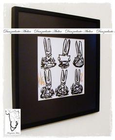 Grabado de Liniers enmarcado con 5 cm de paspartú negro y varilla de 1 cm de frente por 2 cm perfil, termiación negro satinado. Vidrio antirreflejo.