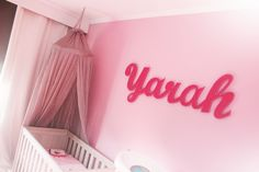 Wooden sign for Yarah's nursery!
