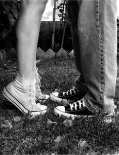 having to stand on my toes to give my love a kiss <3 (:
