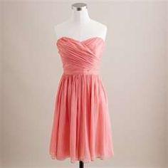 Bridesmaid coral dress