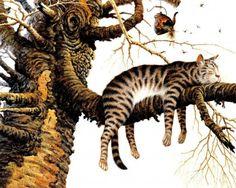 Нарисованные кошки - художники Charles Wysocki и Geoffrey Tristram