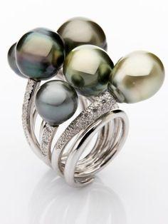 Anillo Perlas de Tahití - Burbujas -