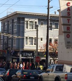 I was enjoying a beautiful Sunday morning, reading a book, drinking a cup of coffee when a horde of naked and thong-wearing Santa's ran by. Only in San Francisco!