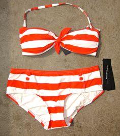 Stripe bandeau bikini - Marc Jacobs #pinup #vintage #retro