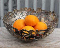 Large Heart Bowl 30 cm Key bowl Metal bowl Metal by Moerkey