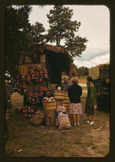 Fruit wagon at the Pie Town, New Mexico Fair. October 1940. Russell Lee.