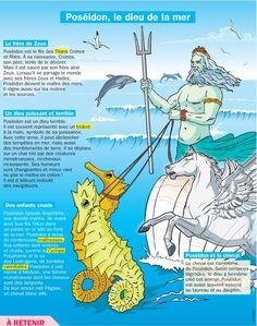 Fiche exposés : Poséidon, le dieu de la mer
