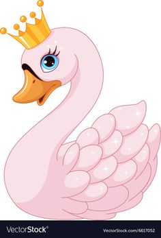 Swan Princess Royalty Free Vector Image - VectorStock