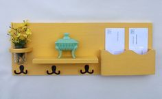 Mail Holder  Coat Hooks  Key Hooks  Jar Vase  by LegacyStudio, $44.95