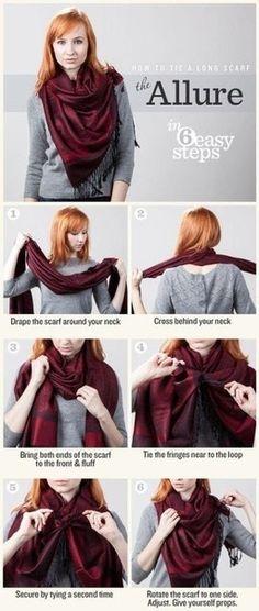 Как красиво и оригинально повязать шарф или платок.