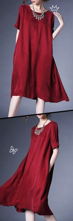 Wine is Tasty, Red is Hotty and Wine Red is Classy. Check the Gorgeous Midi Dress From VIPme.com and Pick Your Favour Size!