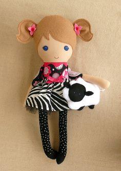Reserved for Jessica  Fabric Doll Rag Doll Blond por rovingovine