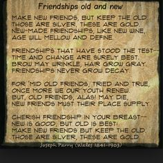 ) of other poets around the world, I'm taking a moment to thank all my friends, both old and new,for their friendship. Enjoy this poem by Joseph Parry. Instagram Quotes, Instagram Posts, Great Poems, Poem A Day, Friendship Poems, Make New Friends, Grow Hair, Old And New, Old Things