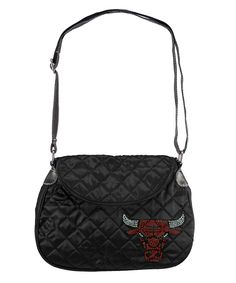 Chicago Bulls NBA Sport Noir Quilted Saddlebag