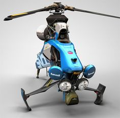 Igarashi Design has introduced a single seat helicopter with amazing looks. It is equipped with everything that is required to give the private flight a higher reliability. But you need to take pilot training before flying your own helicopter because only Flying Helicopter, Flying Car, Ultralight Helicopter, Concept Ships, Concept Cars, Personal Helicopter, Pilot Training, Futuristic Cars, Futuristic Technology
