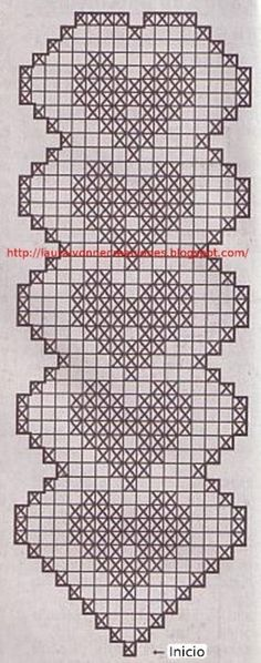 Crochet Bracelet Heart - Chart. also has a fair few filet charts if you click the link in the right hand tray.