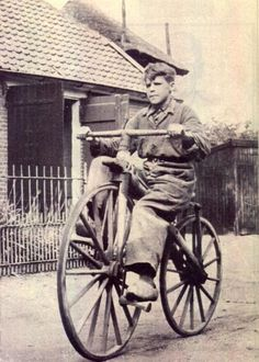 VELOCIPEDE~ Big Boy On the Bike-new definition of clunker?