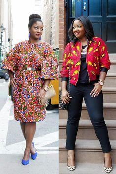 Ankara Styles // Ankara Shift Dress // Ankara Bomber Jacket // NYFW Street Style // Colorful Style