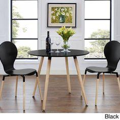 Track Circular Black/ Natural Dining Table