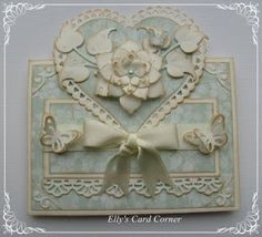 Soft blues snd cream. Beautiful card.