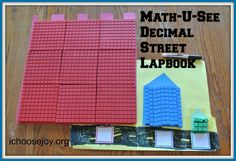 "One of our Homeschool Essentials is Math-U-See for math curriculum. See the Decimal Street lapbook we created for ""Alpha. 1st Grade Math, Math Class, Math Resources, Math Activities, Math U See, Math Jokes, Teaching Math, Maths, Teaching Tools"