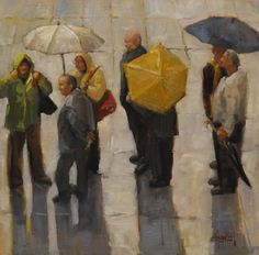 In the Que, 24x24 oil  (at Musee de Orsay)