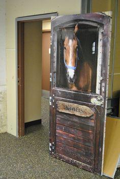 Horse Barn door wrap                                                                                                                                                                                 Plus