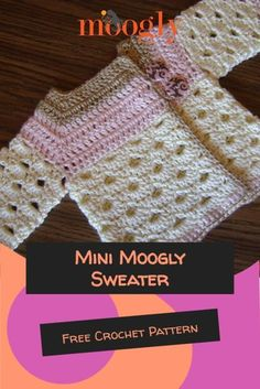 The Mini Moogly Sweater is a gorgeous crochet baby cardigan in two sizes - sure to impress at your next baby shower, you'll love how quick and easy it works up! Free Pattern on Moogly! #freecrochetpatterns #crochetforbaby #babycrochet #babyshower #handmade #mooglyblog Crochet Patterns For Beginners, Easy Crochet Patterns, Baby Patterns, Knitting For Kids, Crochet For Kids, Quick Crochet, Free Crochet, Crochet Baby Cardigan Free Pattern, Crochet Crafts