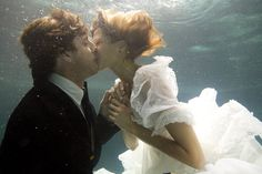 Hold your breath! MUAH #underwater #wedding #photography