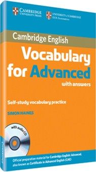Cambridge Vocabulary for Advanced with answers and Audio CD English Vocabulary, English Grammar, Teaching English, English Language, English Book, English Lessons, Learn English, Cambridge English, Ielts