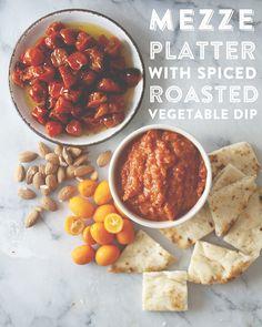 ROASTED VEGETABLE MEZZE PLATTER // The Kitchy Kitchen @McCormickSpice #ad