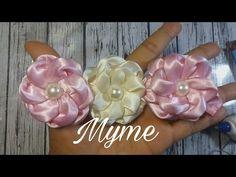 Florde fitas de cetim e organza com pinças -Satin flower and organza - YouTube